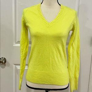 J.Crew Women's Yellow Cashmere Sweater SZ XS